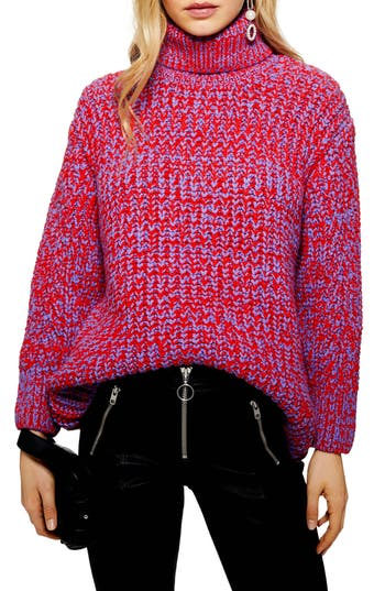 Topshop Chunky Roll Neck Sweater