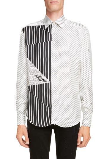 Givenchy Mixed Stripe Silk Shirt