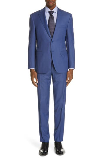 Canali Siena Classic Fit Solid Super 130s Wool Suit