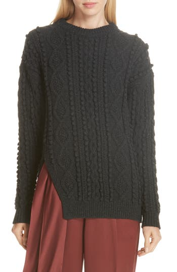 3.1 Phillip Lim Popcorn & Cable Knit Sweater
