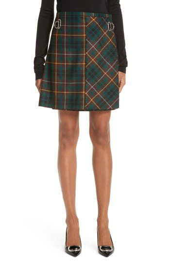 Burberry Adige Tartan Plaid Skirt