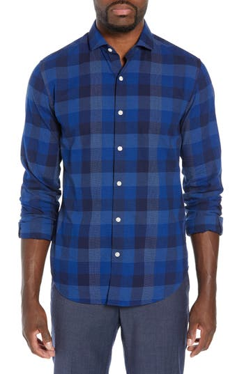Bonobos Unbutton Down Slim Fit Check Sport Shirt