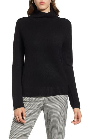 Halogen® Fuzzy Mock Neck Sweater