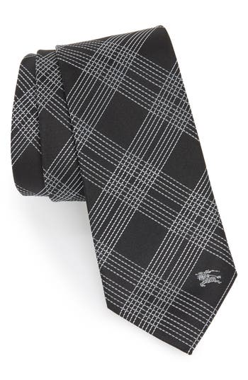 Burberry Manston Graphic Line Check Silk Tie