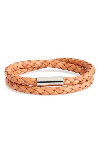 Finn & Taylor Braided Leather Wrap Bracelet