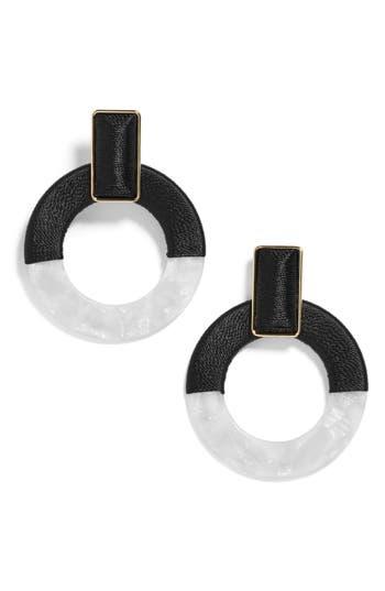BaubleBar Two Tone Circle Drop Earrings