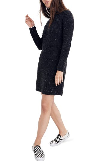 Madewell Northfield Donegal Mock Neck Sweater Dress
