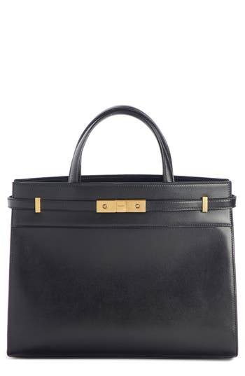 Saint Laurent Small Manhattan Leather Satchel