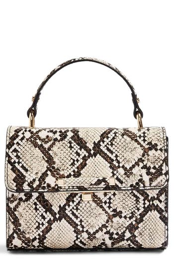 Topshop Mini Marissa Snake Embossed Top Handle Bag