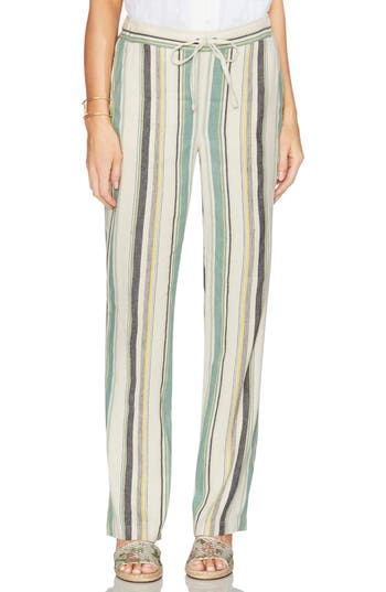 Vince Camuto Stripe Straight Leg Twill Pants