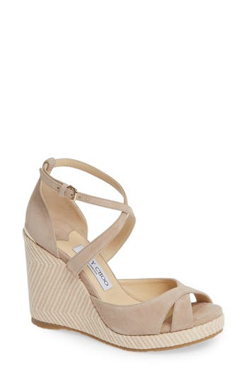 Jimmy Choo Alanah Strappy Wedge Sandal