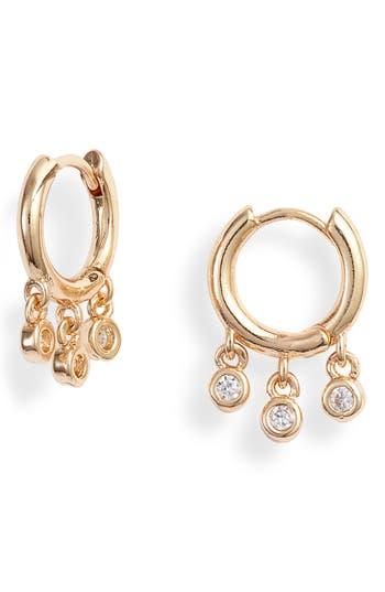Treasure & Bond Crystal Drop Huggie Hoop Earrings