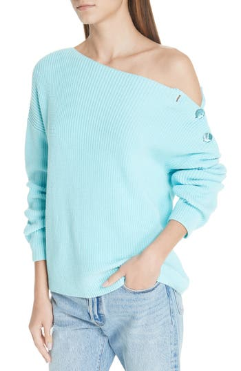 Fuzzi Button Shoulder Pullover