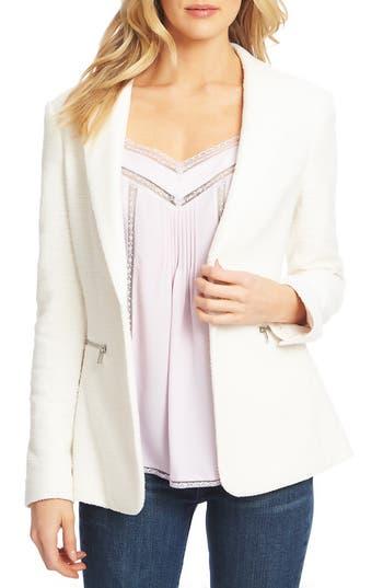 1.STATE Slub Tweed One-Button Blazer