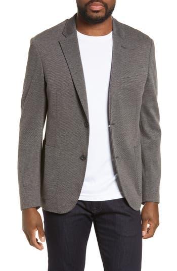 Nordstrom Men's Shop Trim Fit Double Face Ponte Sport Coat