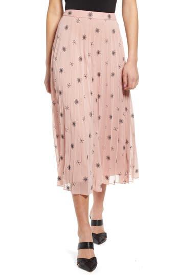 WAYF Taylor Pleated Midi Skirt