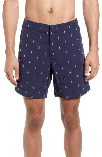 boto Aruba Slim Fit Anchor Swim Trunks