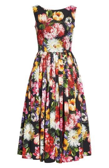 Dolce&Gabbana Floral Print A-Line Midi Dress