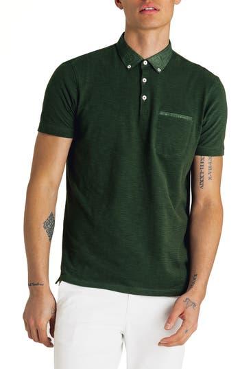 Good Man Brand Slub Jersey Cotton Polo Shirt