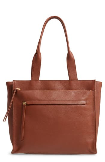 Nordstrom Finn Pebbled Leather Tote