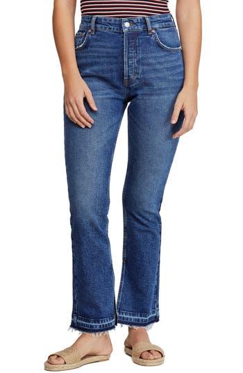 Free People Emmy High Waist Split Hem Bootcut Jeans