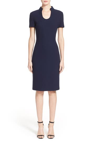 St. John Collection Micro Boucle Sheath Dress