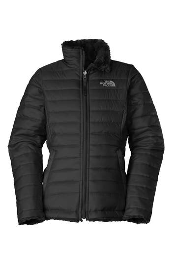 Girl's The North Face 'Mossbud Swirl' Reversible Water Repellent Jacket