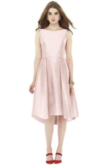 Alfred Sung Bow Back Dupioni Fit & Flare Midi Dress, Pink