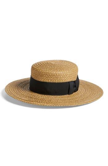 Women's Eric Javits 'Gondolier' Boater Hat - Beige