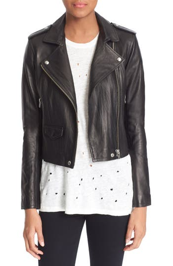 Women's Iro 'Ashville' Leather Jacket, Size 2 US / 34 FR - Black