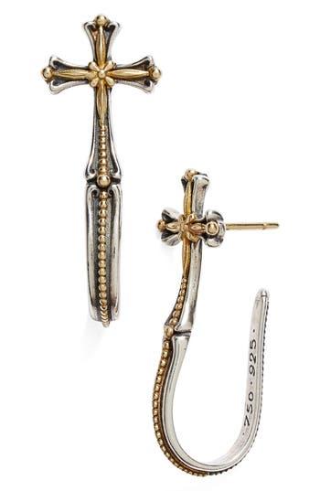 Women's Konstantino 'Hebe' Cross J-Hoop Earrings