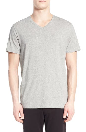 Men's Vince Pima Cotton V-Neck T-Shirt, Size Small - Grey