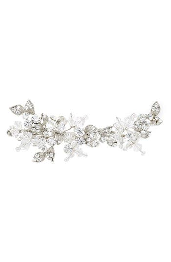 Brides & Hairpins Olivia Jeweled Hair Clip, Size One Size - Grey