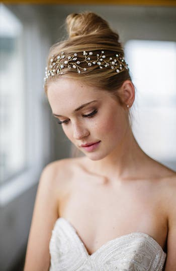 Brides & Hairpins 'Vitalia' Pearl & Jeweled Head Band