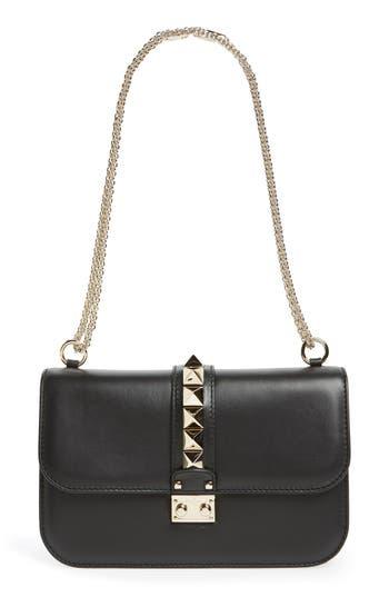 Valentino Garavani 'Medium Lock' Shoulder Bag - Black