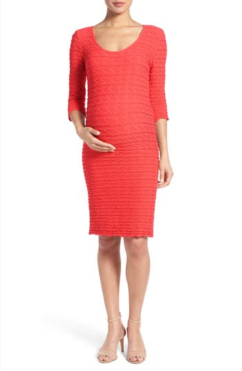 Tees By Tina Crinkle Maternity Sheath Dress