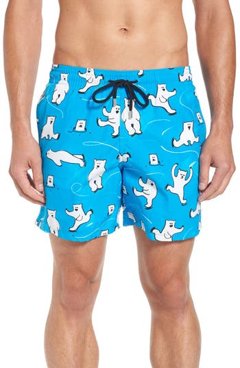 Vilebrequin Bears On Ice Print Swim Trunks