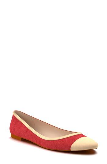 Shoes Of Prey Cap Toe Flat - Red