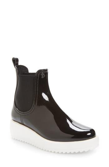 Jeffrey Campbell Hydro Chelsea Platform Rain Boot, Black