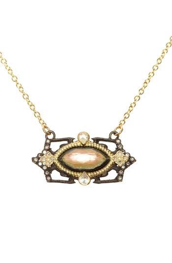 Women's Armenta Old World Marquis Diamond Pendant Necklace