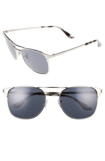 Ray-Ban Standard Icons Signet 55Mm Retro Sunglasses - Shiny Black
