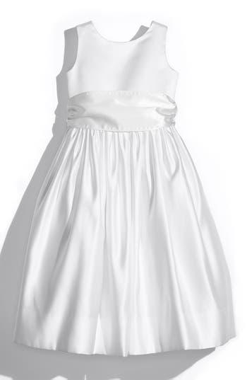 Girls Us Angels White Tank Dress With Satin Sash Size 8  White