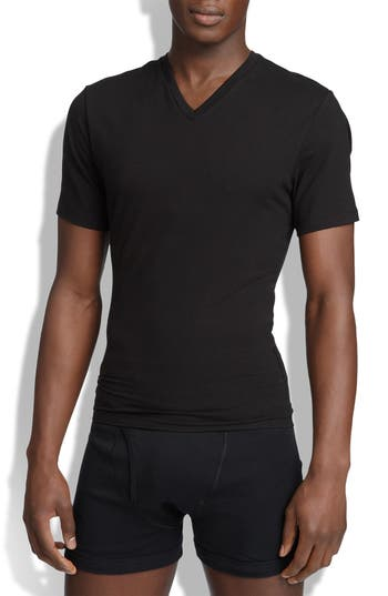 SPANX® V-Neck Cotton Compression T-Shirt