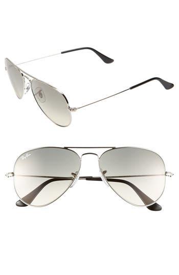 Ray-Ban Small Original 55Mm Aviator Sunglasses - Smoke