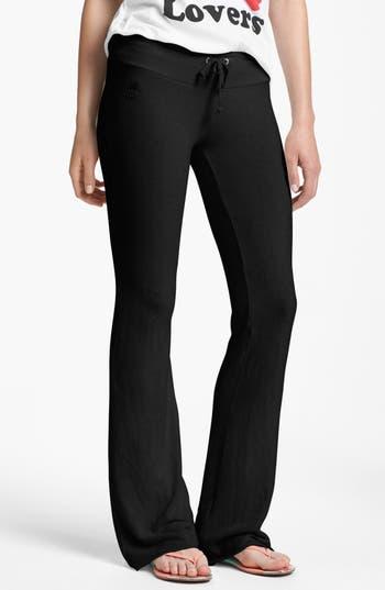 Women's Wildfox Basic Track Pants, Size X-Small - Black
