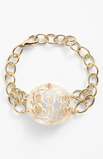 Women's Moon And Lola 'Annabel' Medium Oval Personalized Monogram Bracelet (Nordstrom Exclusive)