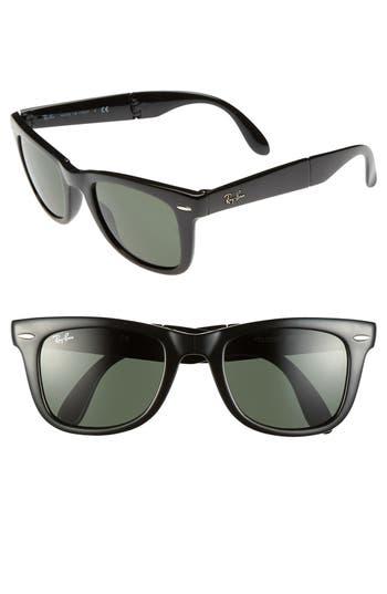 Ray-Ban Standard 50Mm Folding Wayfarer Sunglasses - Black
