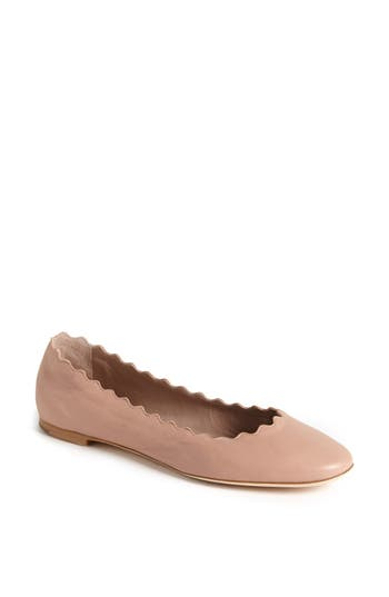 Chloé 'Lauren' Scalloped Ballet Flat