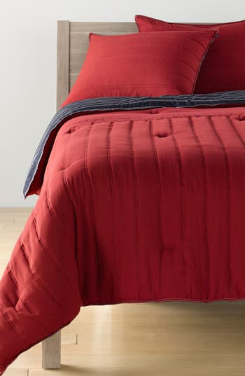 Nautica Mainsail Quilted Comforter & Sham Set, Size Twin - Red