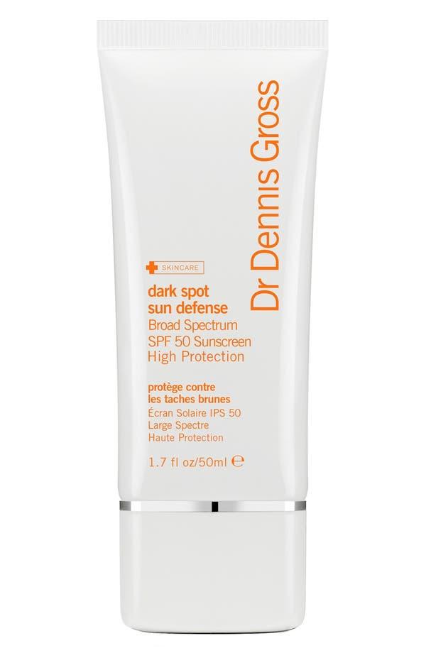 Dark Spot Sun Defense Broad Spectrum SPF 50 Sunscreen,                         Main,                         color, No Color